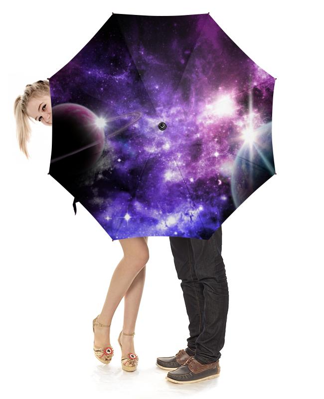 Зонт-трость с деревянной ручкой Printio Космос зонт трость с деревянной ручкой printio космос