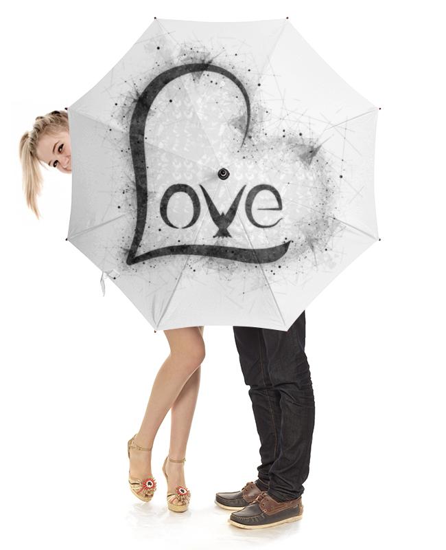 Зонт-трость с деревянной ручкой Printio Love umbrella зонт reisenthel umbrella margarite ym7038