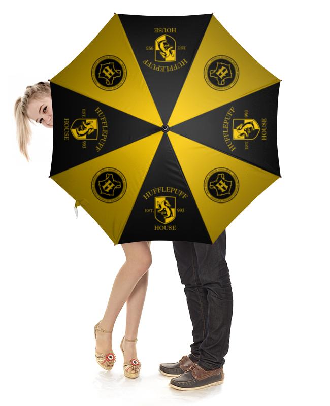 Зонт-трость с деревянной ручкой Printio Пуффендуй зонт трость с деревянной ручкой printio ромашки
