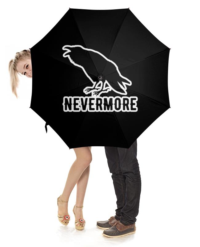 Зонт-трость с деревянной ручкой Printio Nevermore зонт трость с деревянной ручкой printio nevermore
