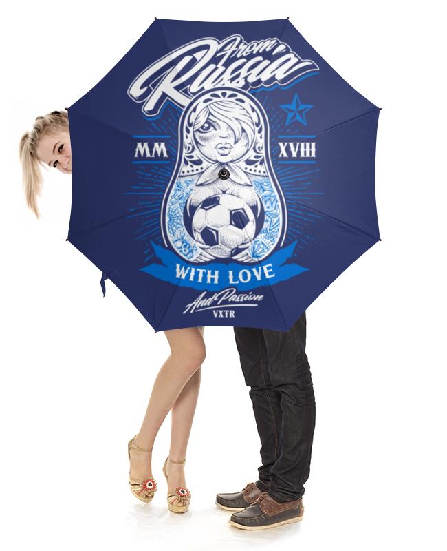 Зонт-трость с деревянной ручкой Printio Футбол зонт трость двусторонний с деревянной ручкой printio футбол