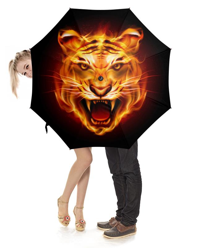 Зонт-трость с деревянной ручкой Printio Тигры зонт трость с деревянной ручкой printio тигры