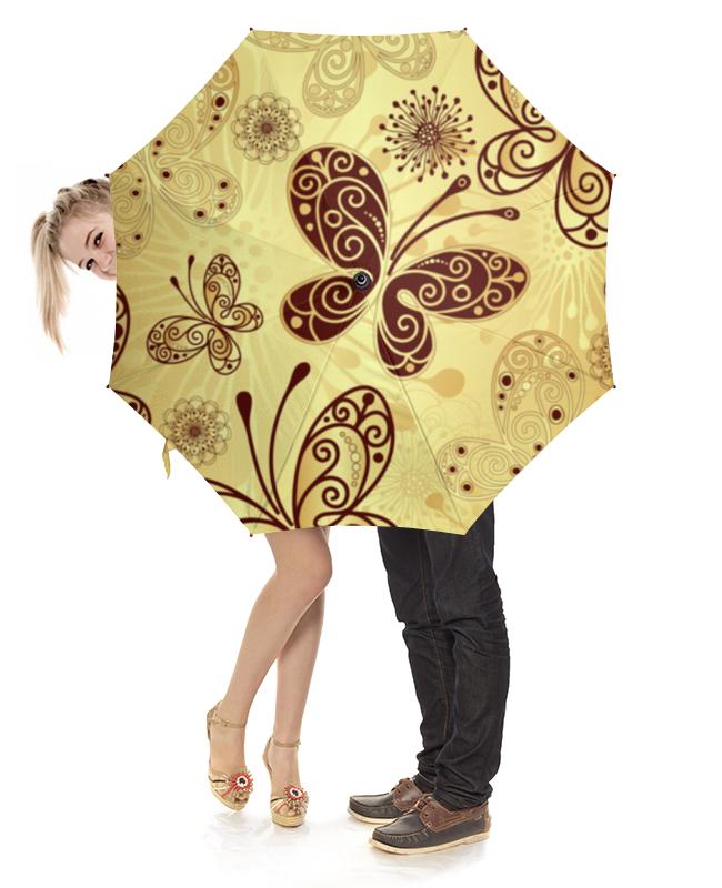 Зонт-трость с деревянной ручкой Printio Бабочки зонт трость с деревянной ручкой printio бабочки