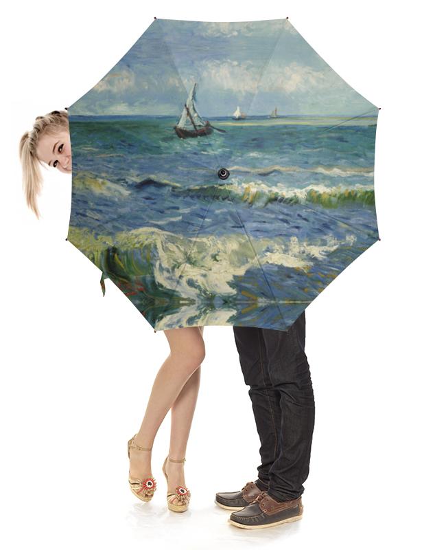 Зонт-трость с деревянной ручкой Printio Морской пейзаж у сент-мари-де-ла-мер (ван гог) де ла мотт а игра