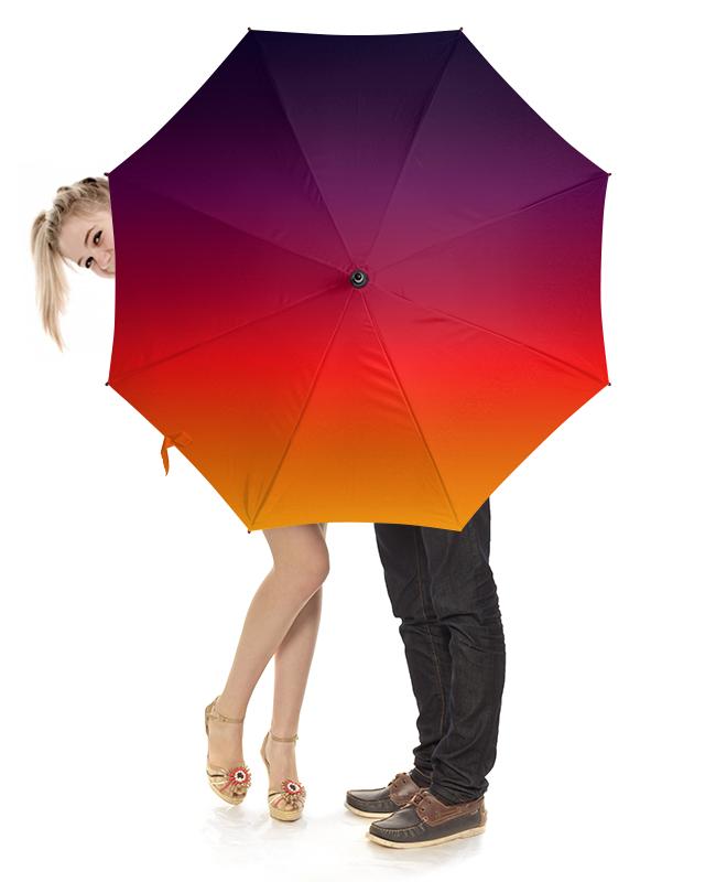 Зонт-трость с деревянной ручкой Printio Плавное разноцветие зонт трость с деревянной ручкой printio закат в ялте айвазовский
