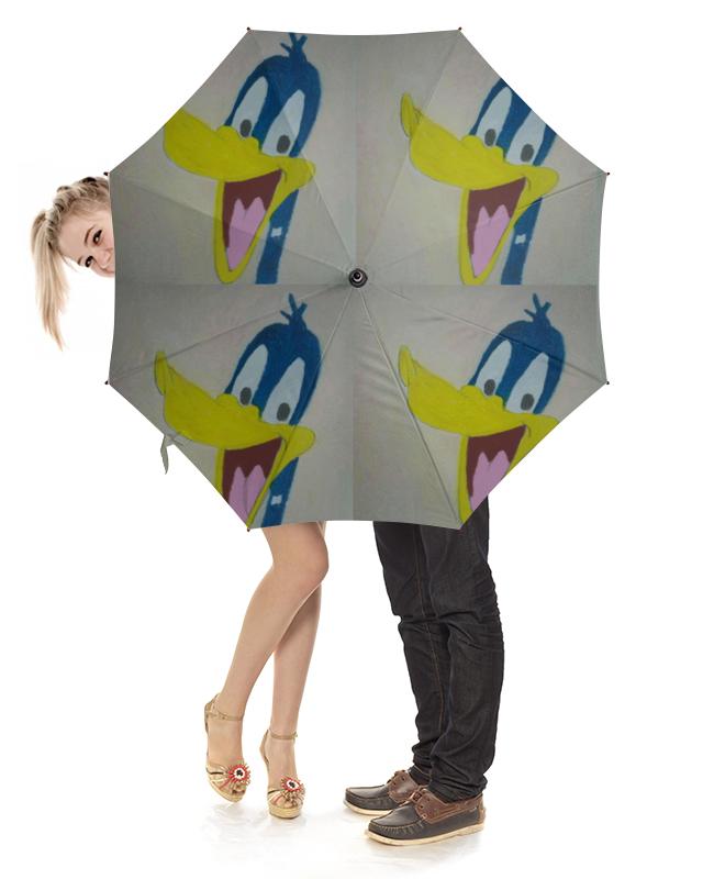Зонт-трость с дереянной ручкой Printio Утка