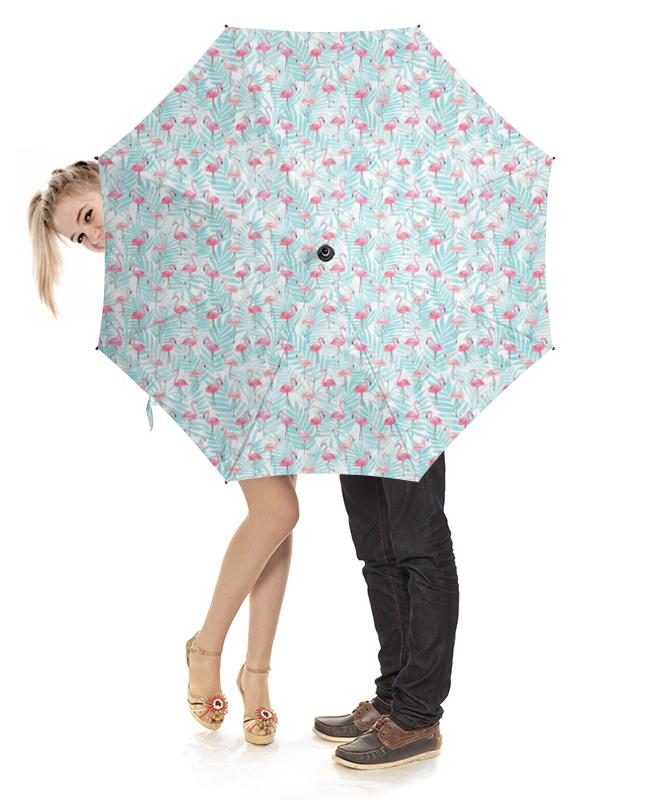Зонт-трость с деревянной ручкой Printio Фламинго зонт трость с деревянной ручкой printio розовый фламинго