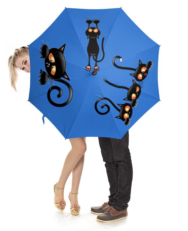 Зонт-трость с деревянной ручкой Printio Котики зонт трость с деревянной ручкой printio котики