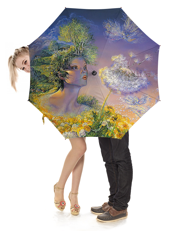 Зонт-трость с деревянной ручкой Printio Fantasy design зонт трость с деревянной ручкой printio fantasy design