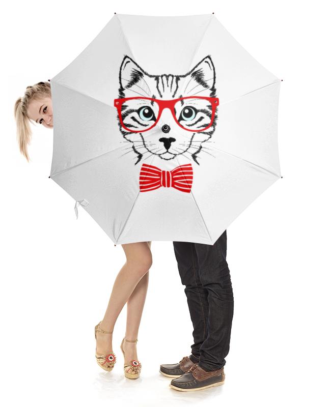 Зонт-трость с деревянной ручкой Printio Кошка андрей дашков домашнее животное