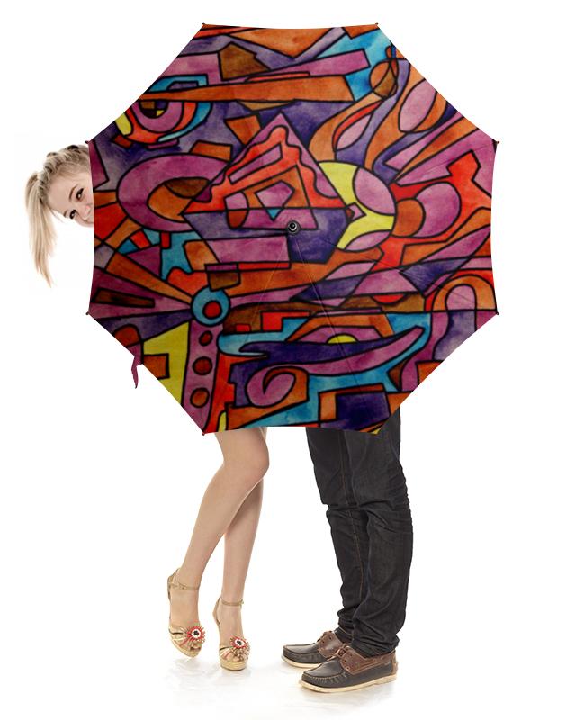 Зонт-трость с деревянной ручкой Printio Dz,p9////o`fv свитшот мужской с полной запечаткой printio dz p9 o fv