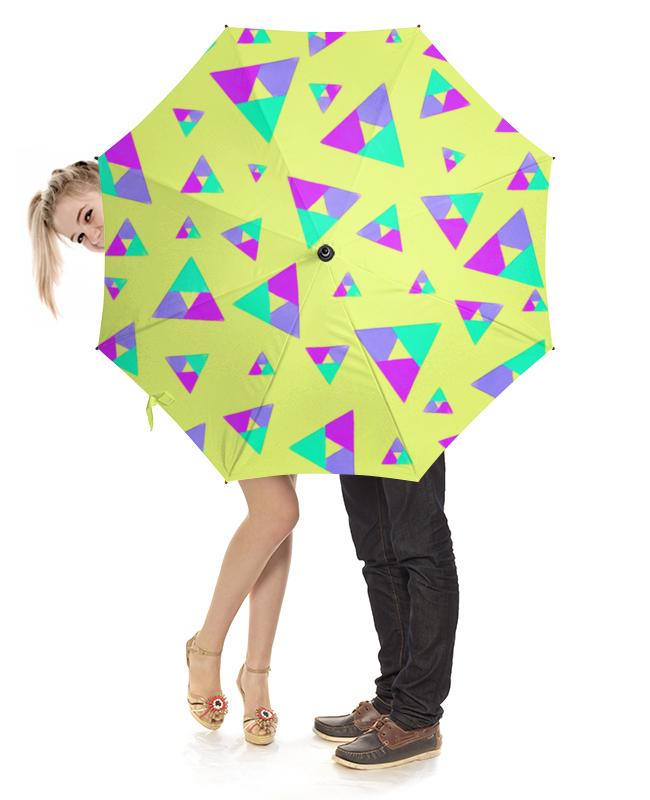 Зонт-трость с деревянной ручкой Printio Треугольник 1 прорезыватели macik забавка треугольник с колечками