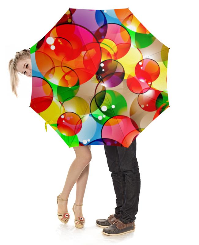 Зонт-трость с деревянной ручкой Printio Пузыри зонт eleganzza зонт
