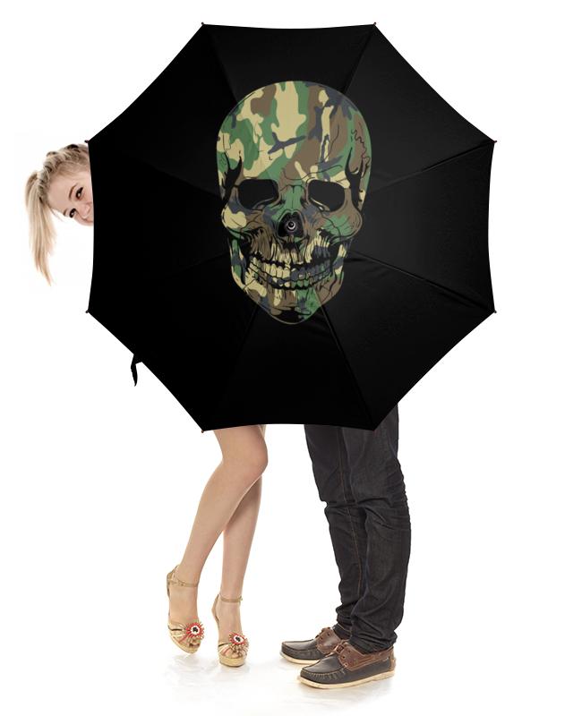 Зонт-трость с деревянной ручкой Printio Череп зонт трость с деревянной ручкой printio казимир малевич автопортрет