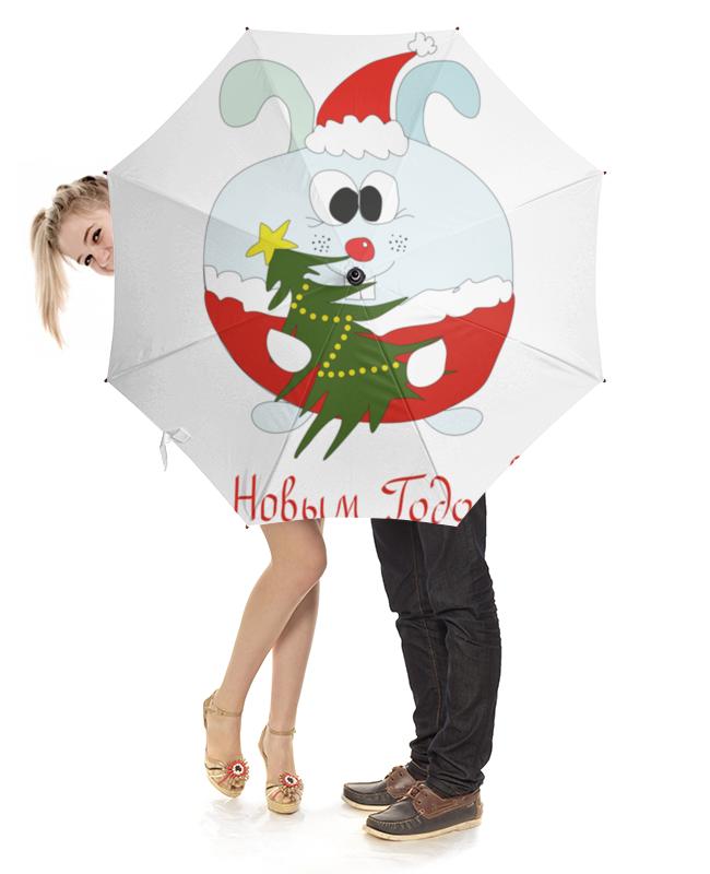 Зонт-трость с деревянной ручкой Printio Новогодний заяц сладкий новогодний подарок почта деда мороза 2 600 г