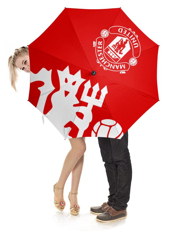 Зонт-трость с деревянной ручкой Printio Манчестер юнайтед зонт трость с деревянной ручкой printio скорпион 24 10 21 11