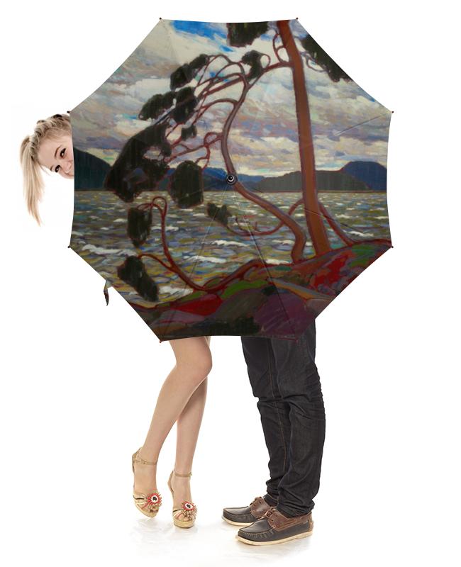 Зонт-трость с деревянной ручкой Printio Западный ветер (том томсон) цены онлайн