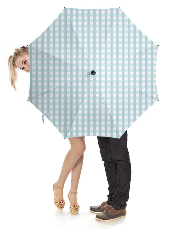 Зонт-трость с деревянной ручкой Printio Клетчатый плед клетчатый