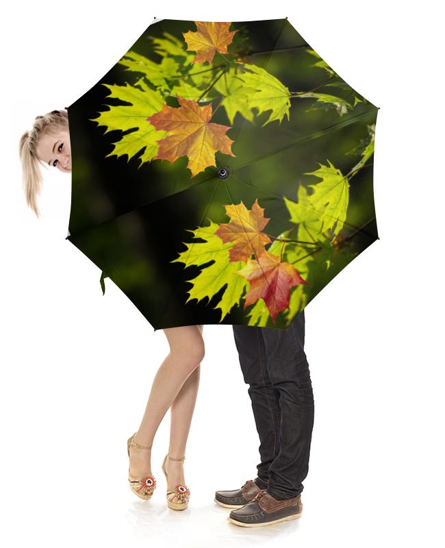 Зонт-трость с деревянной ручкой Printio Кленовая рапсодия elff ceramics прямоугольная тарелка осенние листья