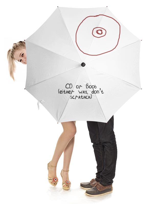 Зонт-трость с деревянной ручкой Printio Cd или титя холст 30x30 printio cd или титя
