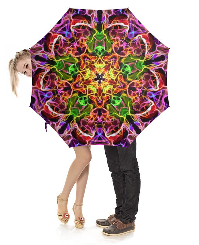 Зонт-трость с деревянной ручкой Printio Неоновый узор зонт трость с деревянной ручкой printio геометрический орнамент