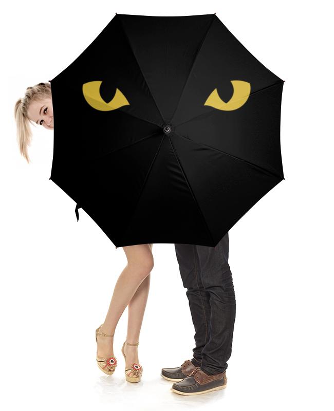 Зонт-трость с деревянной ручкой Printio Кошка зонт трость с деревянной ручкой printio текстиль