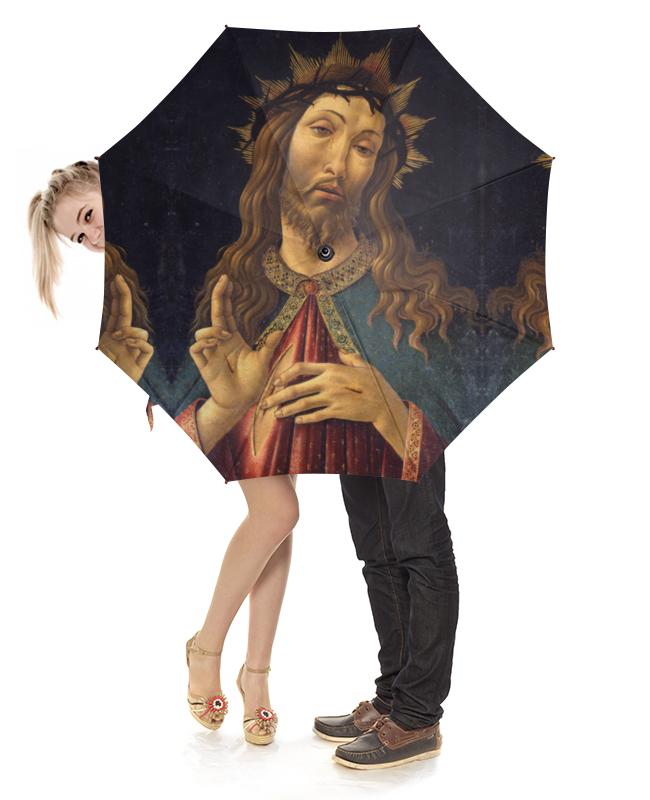 Зонт-трость с деревянной ручкой Printio Христос в терновом венце (боттичелли) вышивка бисером молящийся христос