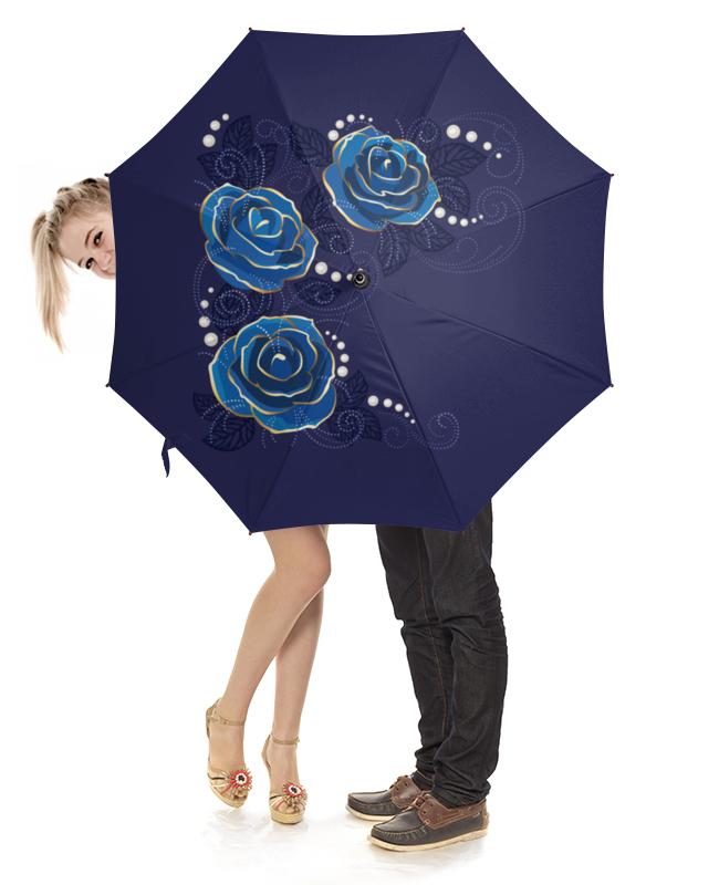 Зонт-трость с деревянной ручкой Printio Цветы зонт трость с деревянной ручкой printio цветы