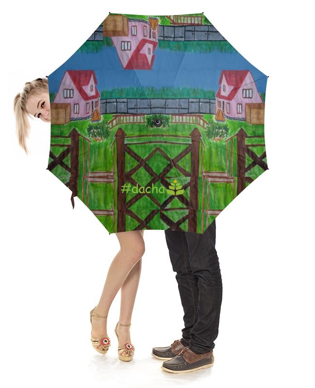 Зонт-трость с деревянной ручкой Printio На даче плакат a3 29 7x42 printio assassins creed крэдо убийцы