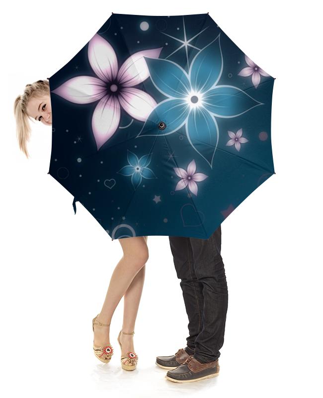 Зонт-трость с деревянной ручкой Printio Неоновые цветы зонт трость с деревянной ручкой printio цветы