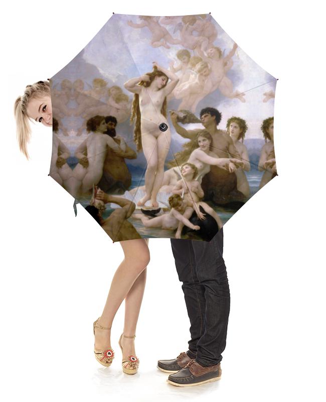 Зонт-трость с деревянной ручкой Printio Рождение венеры (вильям бугро) зонт трость с деревянной ручкой printio вторжение в королевство амуров вильям бугро