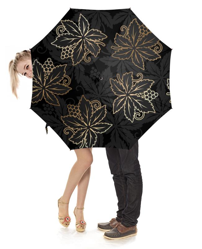 Зонт-трость с деревянной ручкой Printio Листья масло из виноградных косточек trasimeno рафинированное 1 л италия