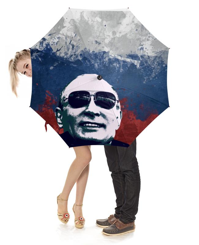 Зонт-трость с деревянной ручкой Printio Путин зонт трость с деревянной ручкой printio путин