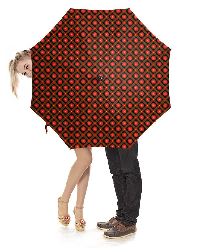 Зонт-трость с деревянной ручкой Printio Темный геометрический узор