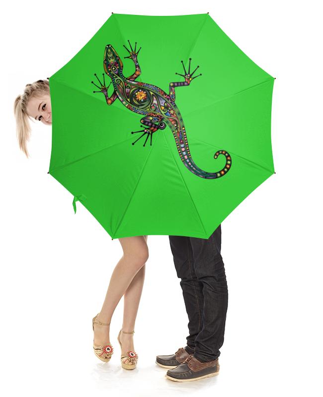 Зонт-трость с деревянной ручкой Printio Ящерица 2015 моды крюк уха gekkonidae ящерица горячей продажи серьги стержня популярные