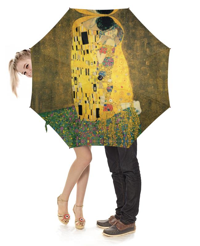 Зонт-трость с деревянной ручкой Printio Поцелуй (картина климта) гобелен 180х145 printio поцелуй картина климта