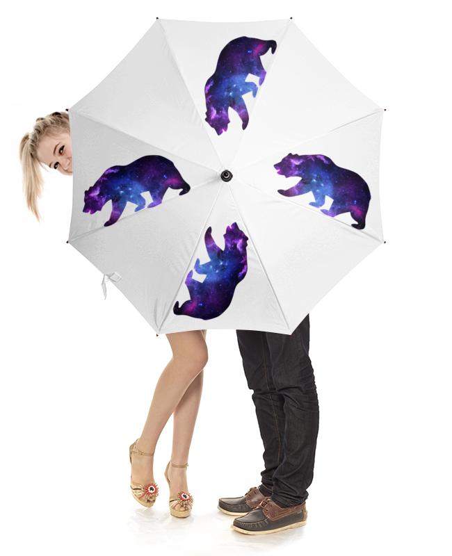 Зонт-трость с деревянной ручкой Printio Space animals зонт трость с деревянной ручкой printio space owl