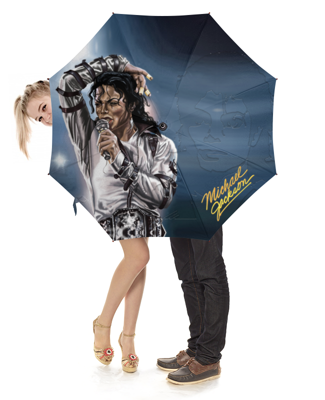 Зонт-трость с деревянной ручкой Printio Michael jackson design зонт трость с деревянной ручкой printio aliens design