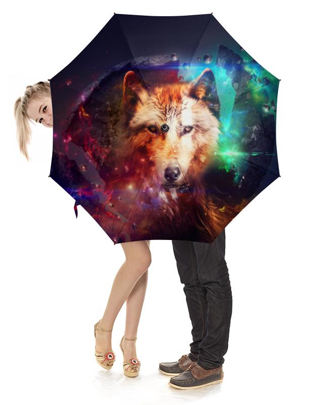Зонт-трость с деревянной ручкой Printio Волк зонт трость с деревянной ручкой printio ветраж