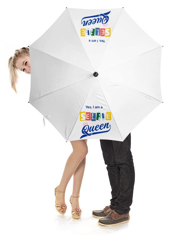 Зонт-трость с деревянной ручкой Printio Королева сэлфи зонт eleganzza зонт
