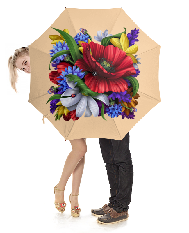 Зонт-трость с деревянной ручкой Printio Цветы зонт трость с деревянной ручкой printio цветы орхидеи цветочная фантазия