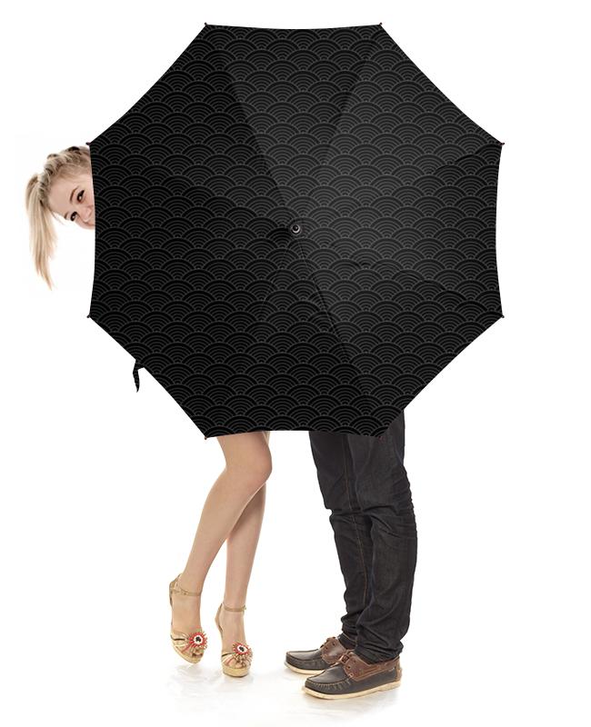 Зонт-трость с деревянной ручкой Printio Волнистый грабли с деревянной ручкой 1500 мм truper r 16m 17880