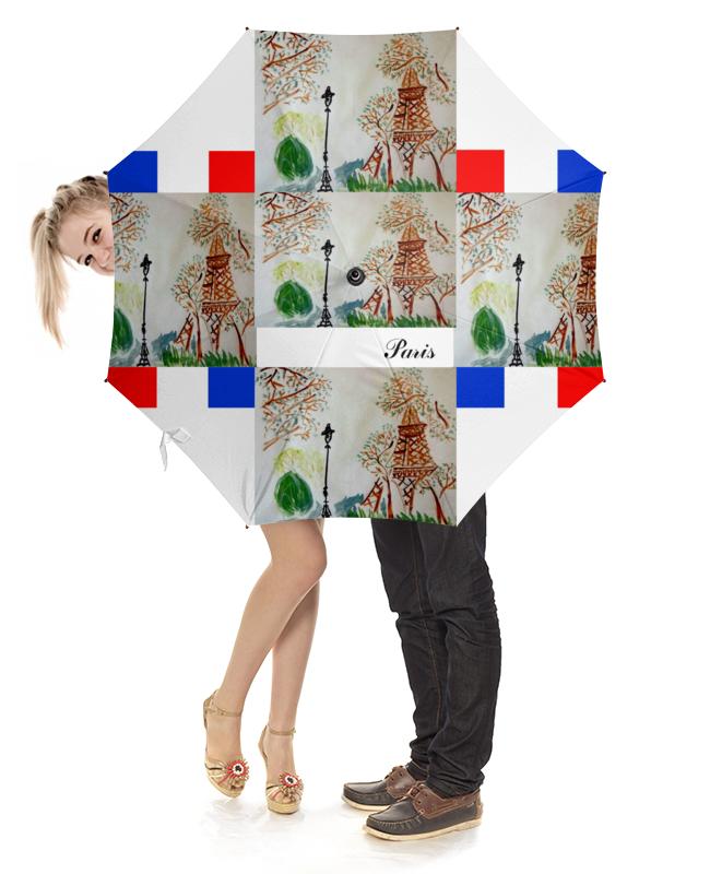 Зонт-трость с деревянной ручкой Printio Зонт-трость париж - париж зонт трость клетка