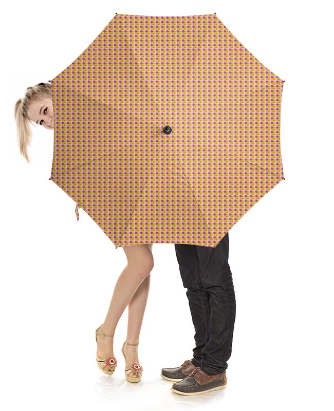 Зонт-трость с деревянной ручкой Printio Смайлы зонт трость с деревянной ручкой printio котики