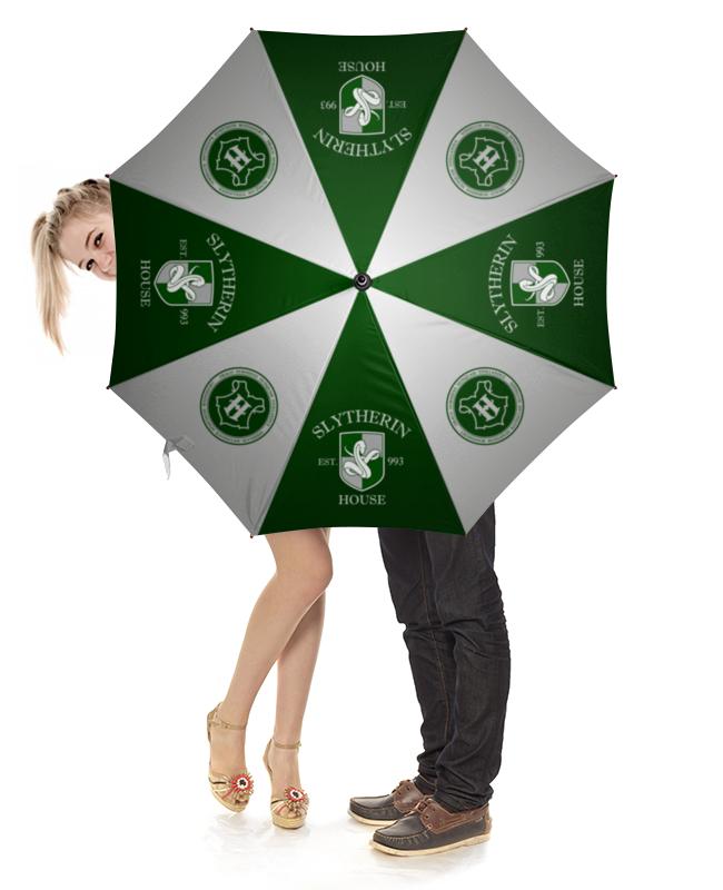 Зонт-трость с деревянной ручкой Printio Слизерин зонт трость с деревянной ручкой printio зонт трость ассирийский флаг