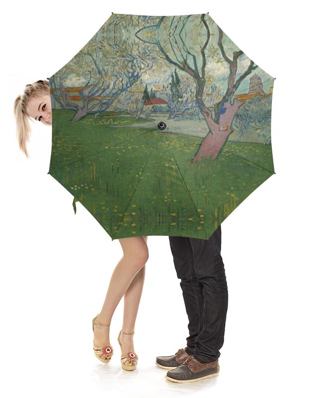 Зонт-трость с деревянной ручкой Printio Сады в цвету, вид на арль (ван гог) рюкзак мешок с полной запечаткой printio персиковое дерево в цвету ван гог