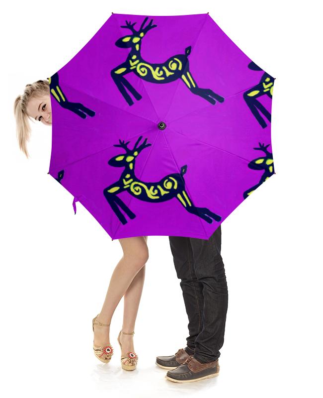 Зонт-трость с деревянной ручкой Printio Олень сумка printio подслушано олень с тату