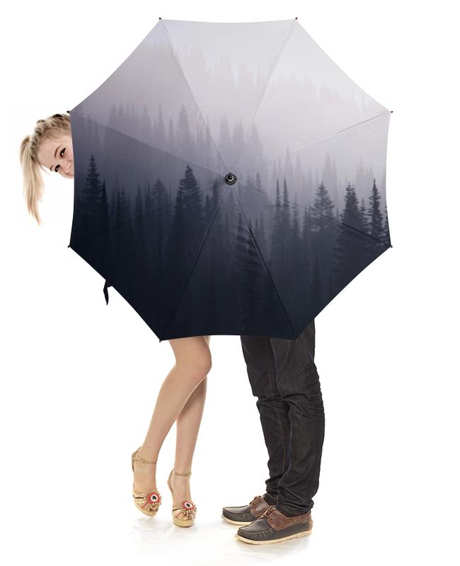 Зонт-трость с деревянной ручкой Printio Лес в тумане зонт трость с деревянной ручкой printio лес в тумане