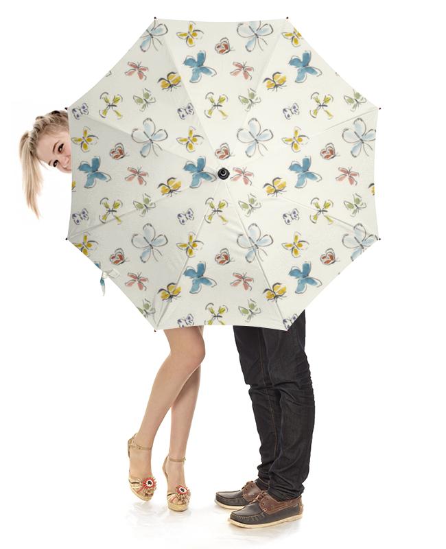 Зонт-трость с деревянной ручкой Printio Бабочки зонт трость двусторонний с деревянной ручкой printio бабочки