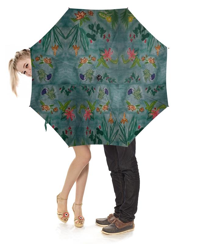 Зонт-трость с деревянной ручкой Printio Ботаника зонт трость с деревянной ручкой printio цветы орхидеи цветочная фантазия
